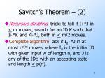 savitch s theorem 2