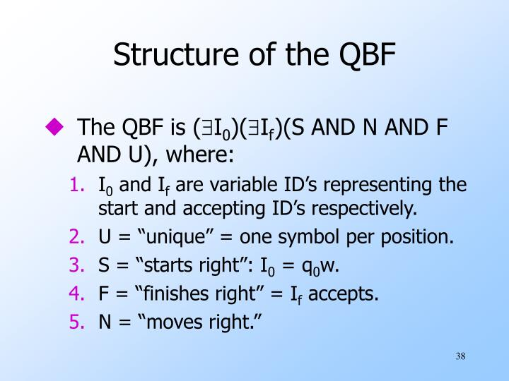 Structure of the QBF