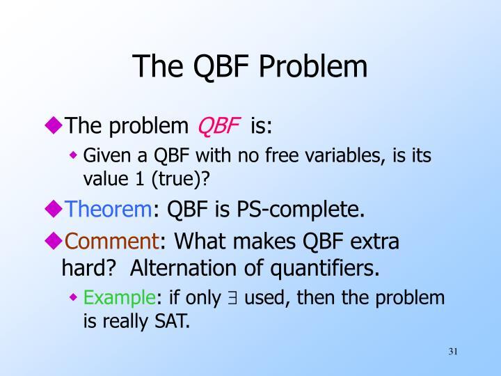 The QBF Problem