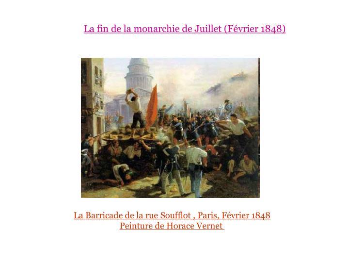 La fin de la monarchie de Juillet (Février 1848)