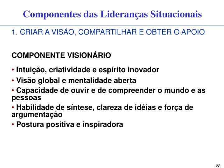 1. CRIAR A VISÃO, COMPARTILHAR E OBTER O APOIO
