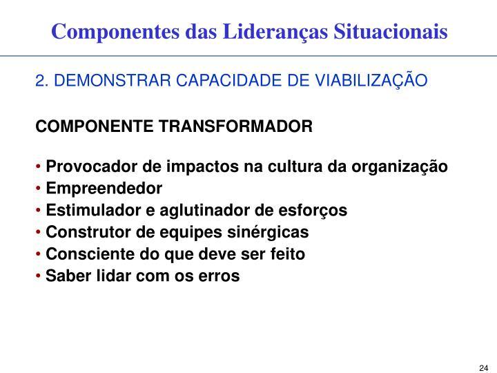 2. DEMONSTRAR CAPACIDADE DE VIABILIZAÇÃO