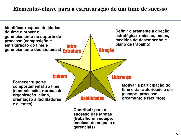 Elementos-chave para a estruturação de um time de sucesso