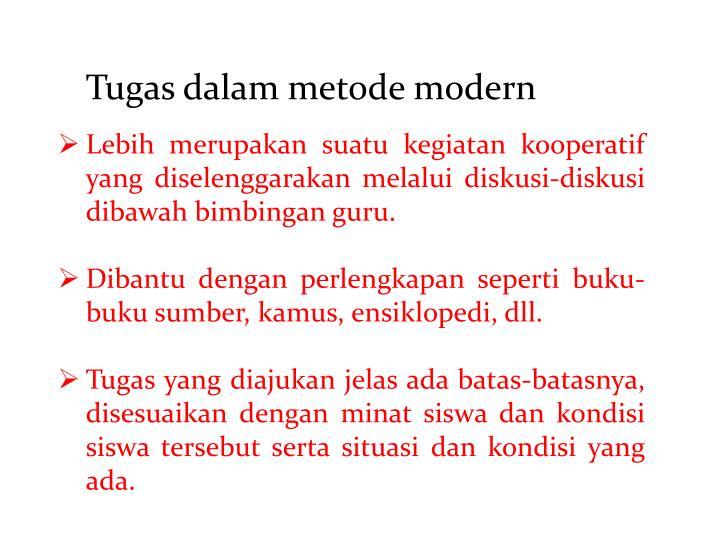 Tugas dalam metode modern