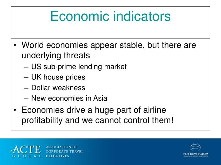 World economies appear stable, but there are underlying threats