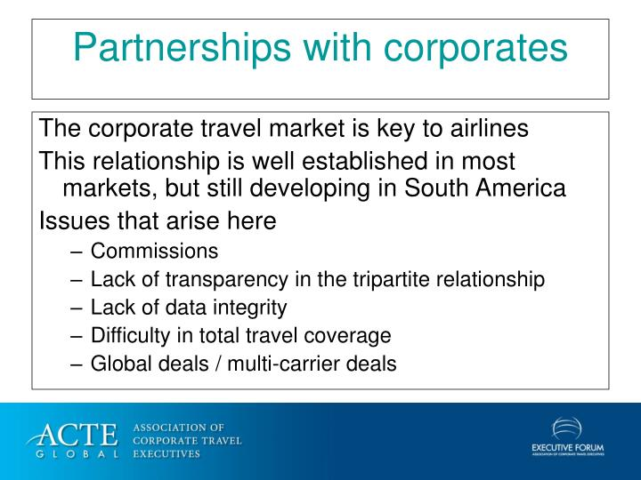 The corporate travel market is key to airlines