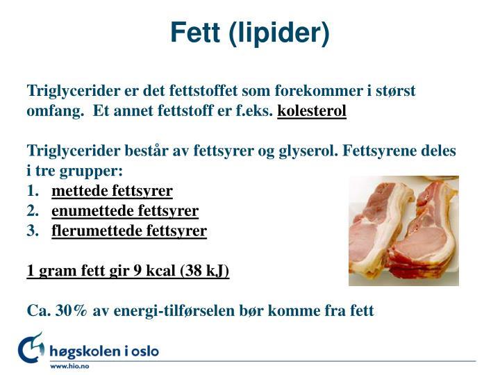 Fett (lipider)