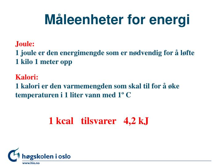 M leenheter for energi
