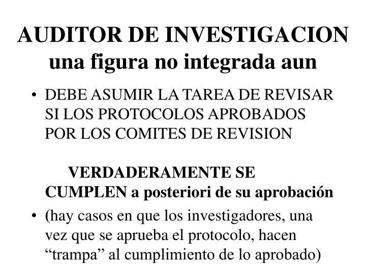 AUDITOR DE INVESTIGACION