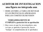 auditor de investigacion una figura no integrada aun