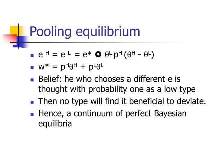 Pooling equilibrium
