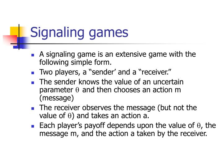 Signaling games