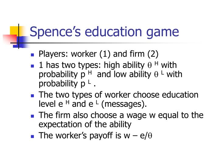 Spence's education game
