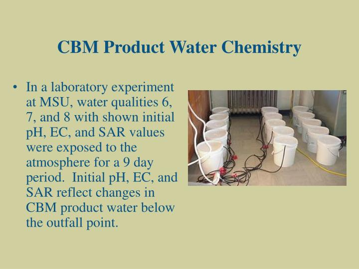 CBM Product Water Chemistry