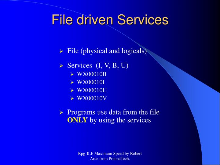 File (physical and logicals)