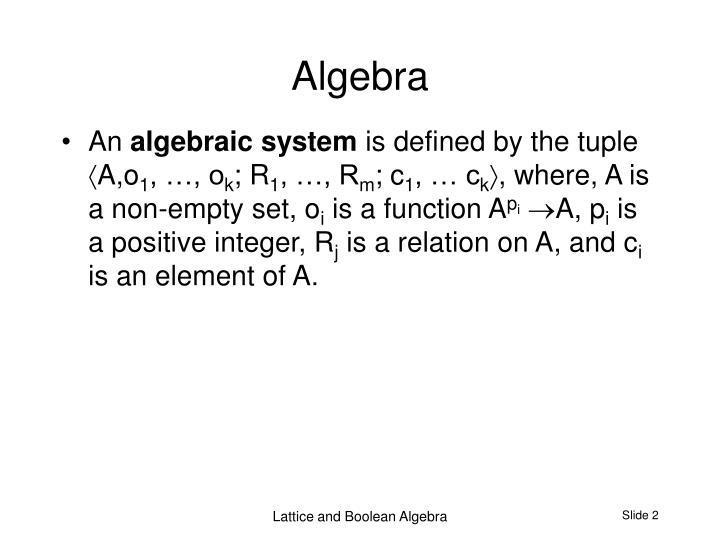 Algebra