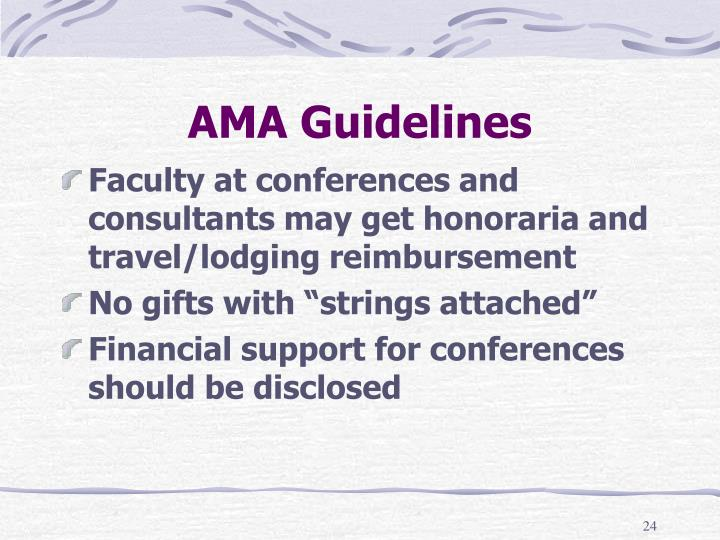 AMA Guidelines