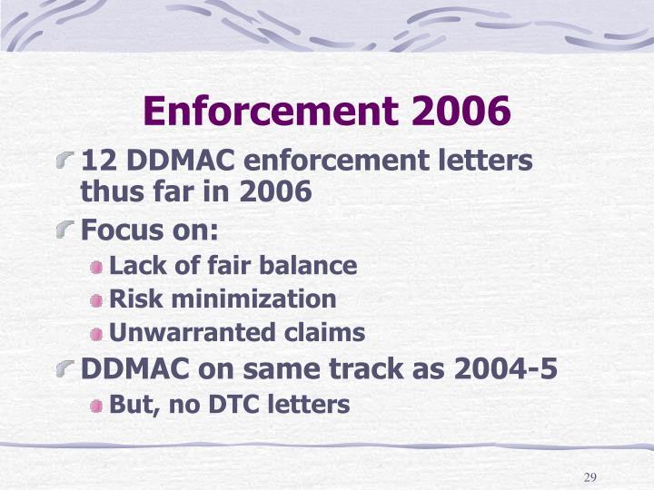 Enforcement 2006