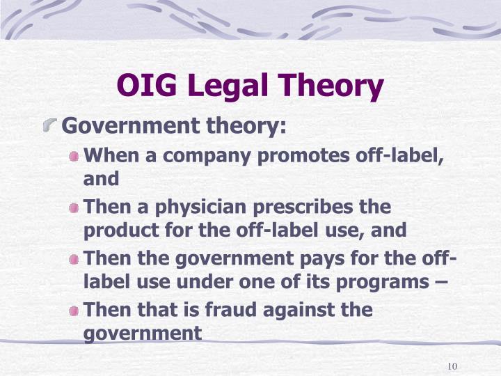 OIG Legal Theory