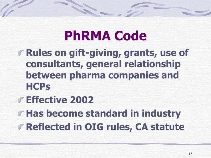 PhRMA Code