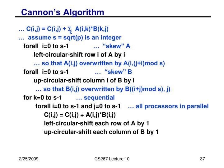 Cannon's Algorithm
