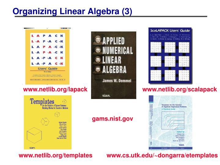 Organizing Linear Algebra (3)