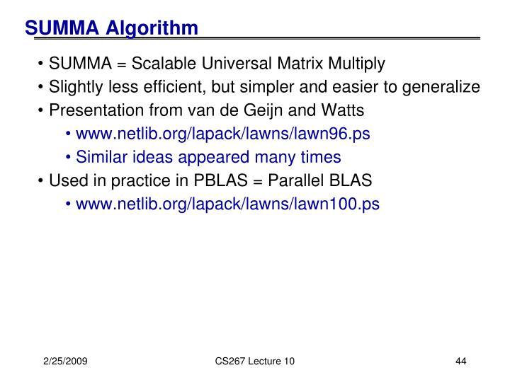 SUMMA Algorithm