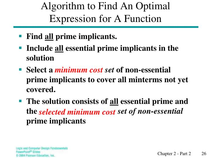 Algorithm to Find An Optimal Expression for A Function