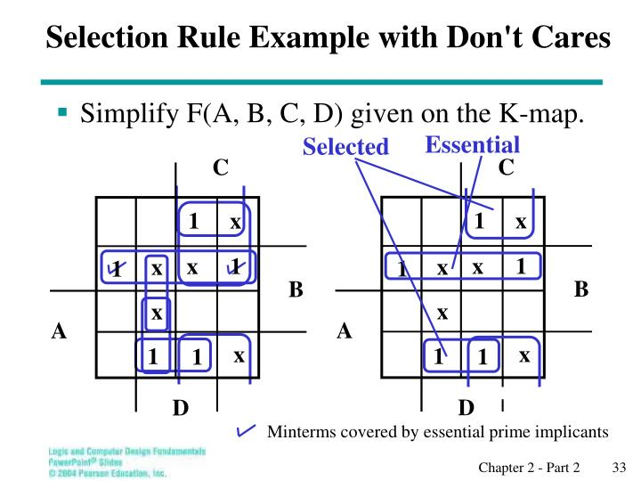Selection Rule Example with Don't Cares