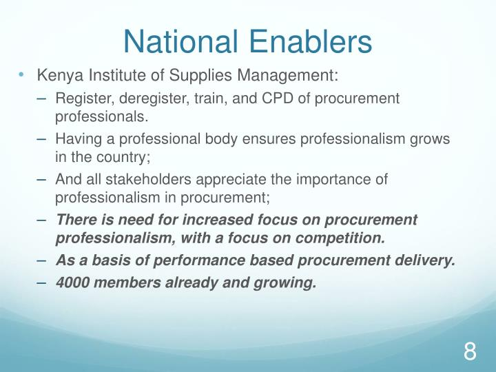 National Enablers