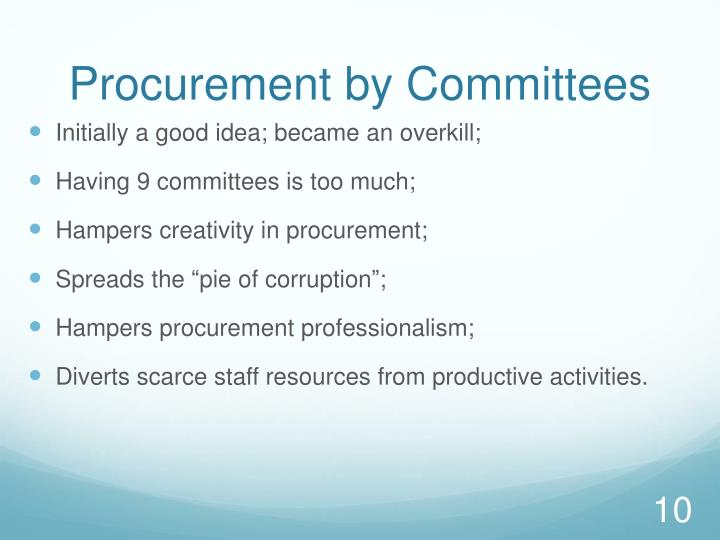Procurement by Committees