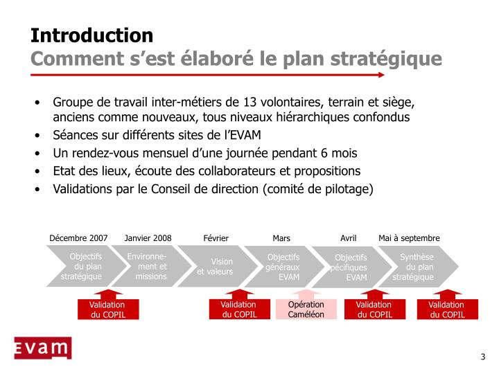 Introduction comment s est labor le plan strat gique