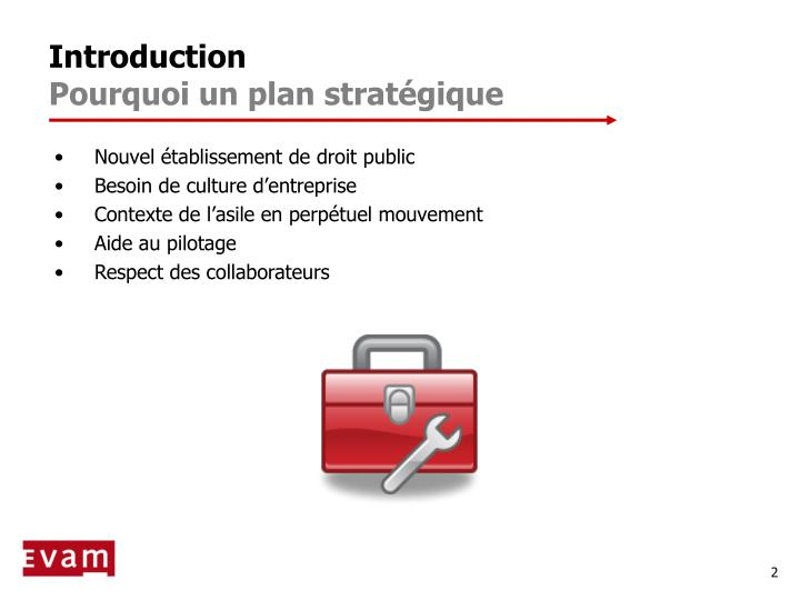Introduction pourquoi un plan strat gique