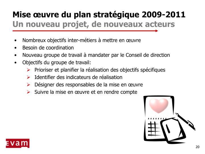 Mise œuvre du plan stratégique 2009-2011