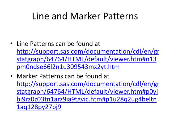Line and Marker Patterns
