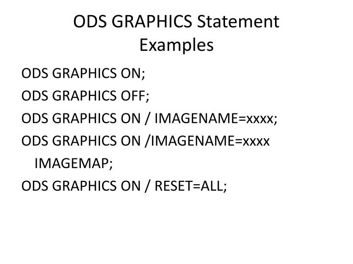 ODS GRAPHICS Statement