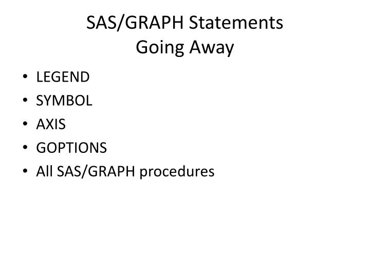 SAS/GRAPH Statements