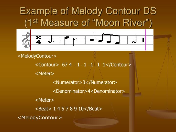 Example of Melody Contour DS