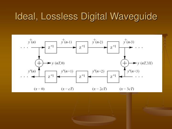 Ideal, Lossless Digital Waveguide