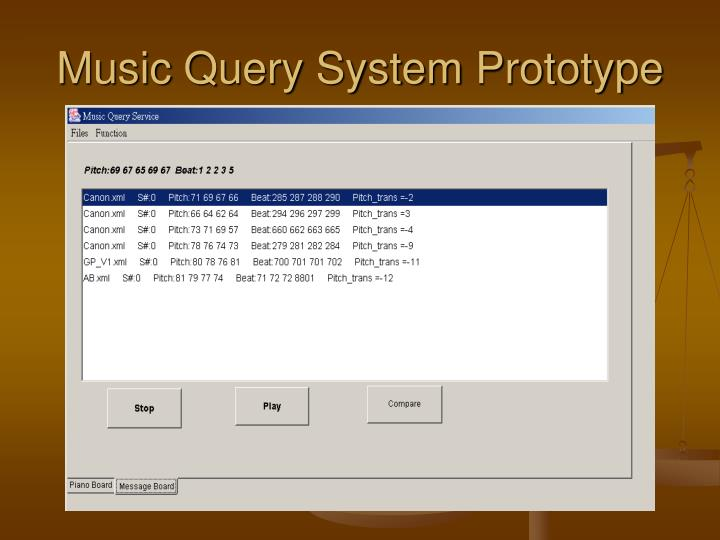 Music Query System Prototype