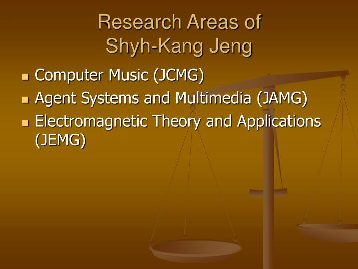 Research Areas of