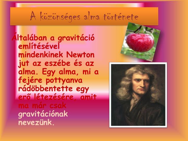 A közönséges alma története