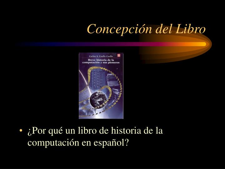 Concepción del Libro