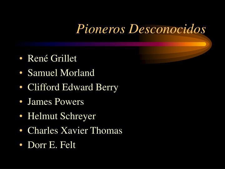 Pioneros Desconocidos