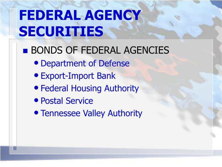 FEDERAL AGENCY SECURITIES