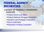 federal agency securities1