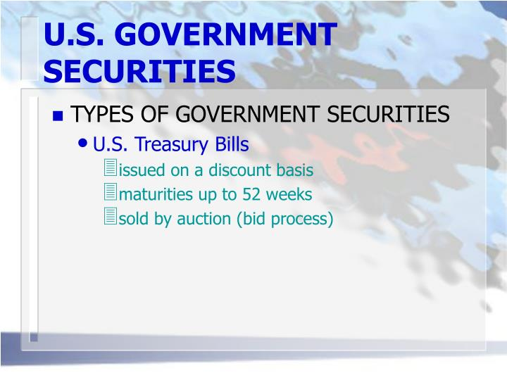 U.S. GOVERNMENT SECURITIES