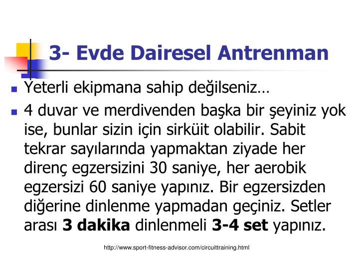 3- Evde Dairesel Antrenman