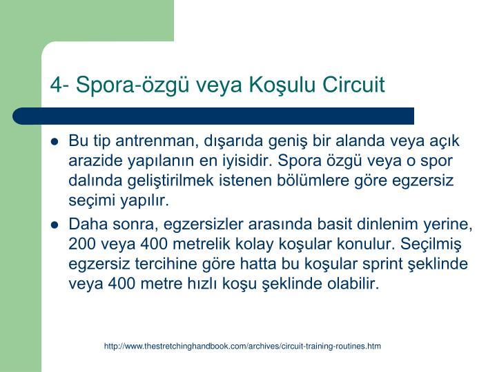 4- Spora-özgü veya Koşulu Circuit