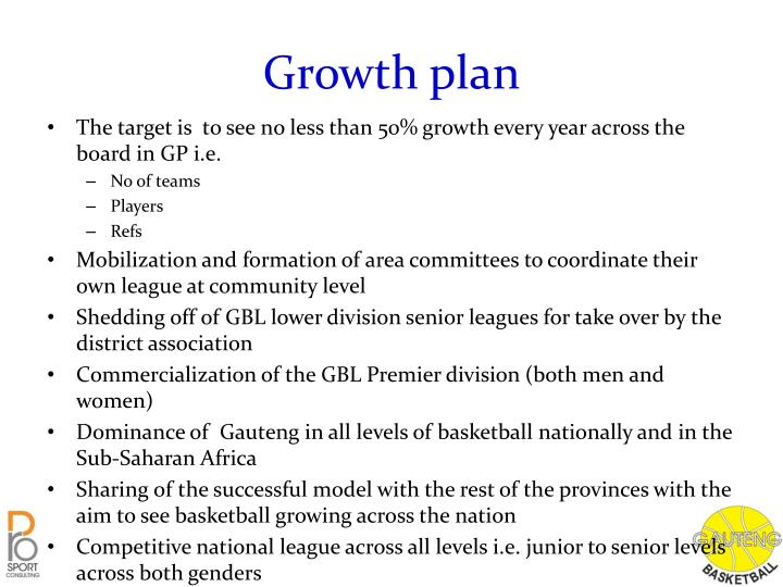 Growth plan